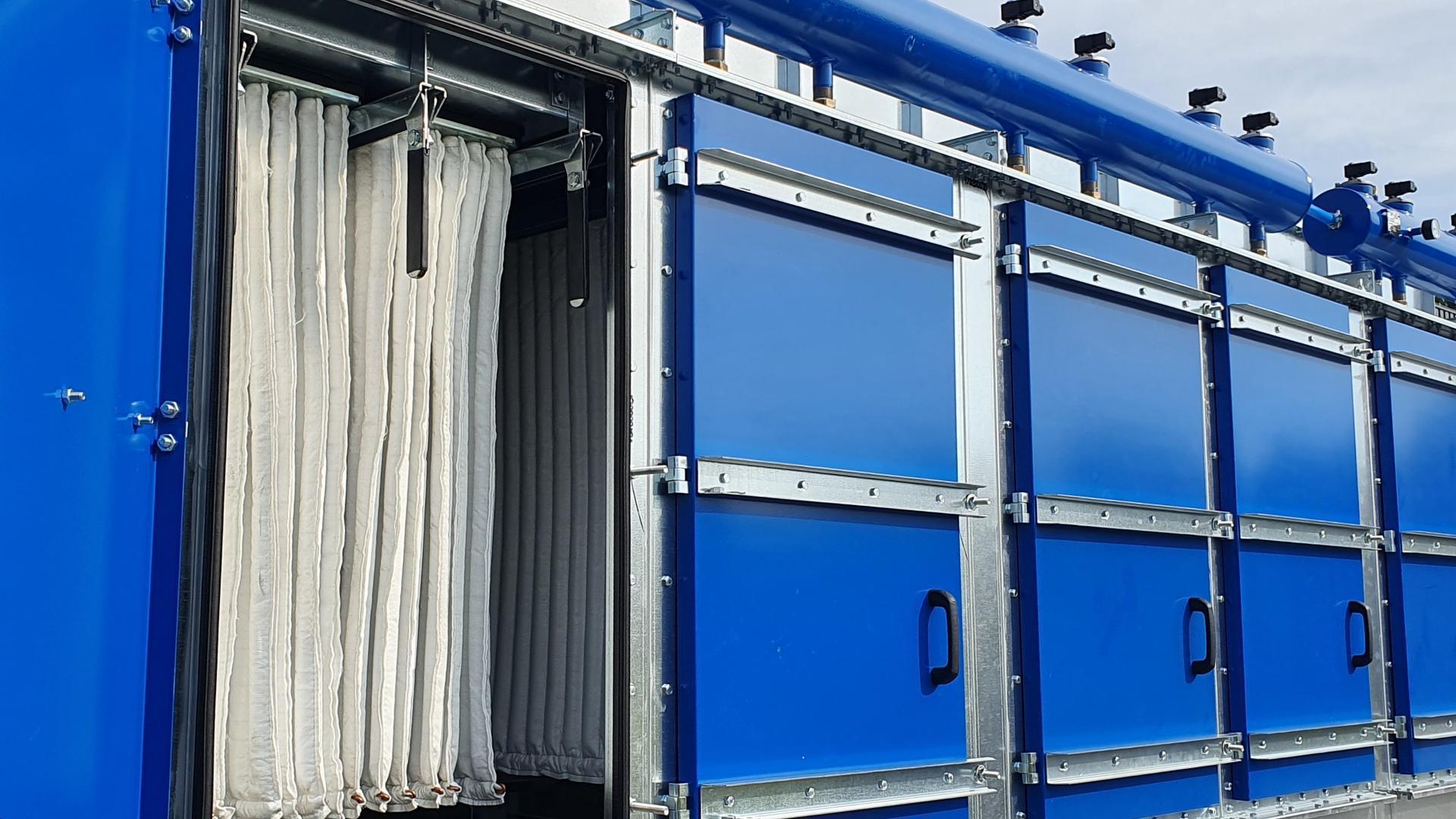 Odpylacz kasetowy - patronowy, modułowy odpylacz filtracyjny do pyłów, czyszczenie sprężonym powietrzem