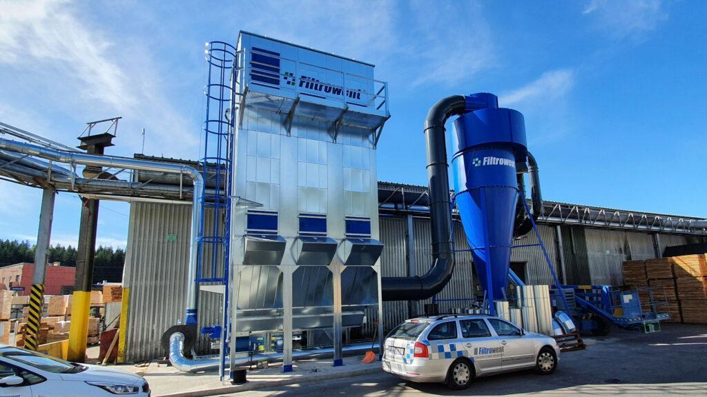 Modułowy filtr workowy, podciśnieniowy, wykonany zgodnie z dyrektywą ATEX