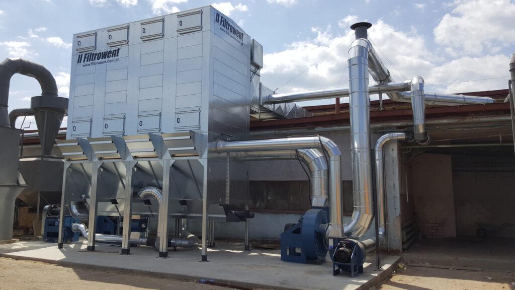 Odpylacz nadciśnieniowy z wentylatorami transportowymi, zgodny z dyrektywą ATEX