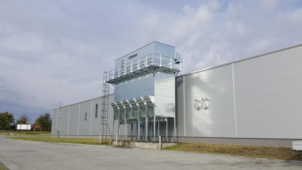 Odpylacz filtracyjny, podciśnieniowy, wersja JET, czyszczenie sprężonym powietrzem, bomba sprężonego powietrza