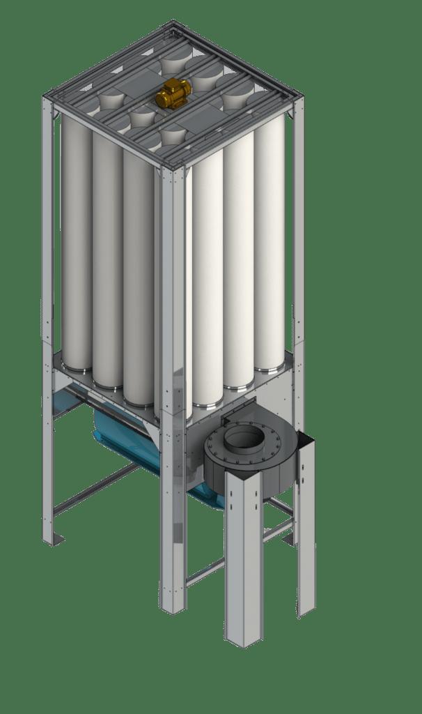 Stacjonarny odciąg trocin dla maszyn CNC